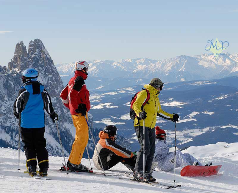 Skiing in the sun weeks Monte Piz